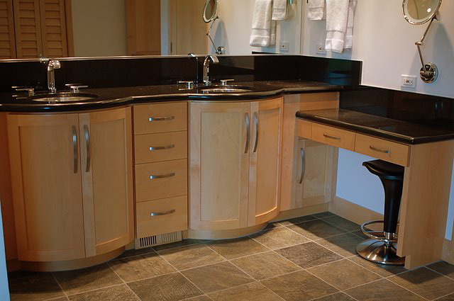 Take a look at our custom bath cabinets.